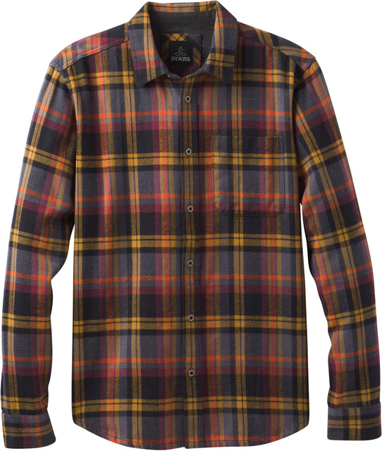 Prana M's Woodman Flannel LS Shirt Bronze